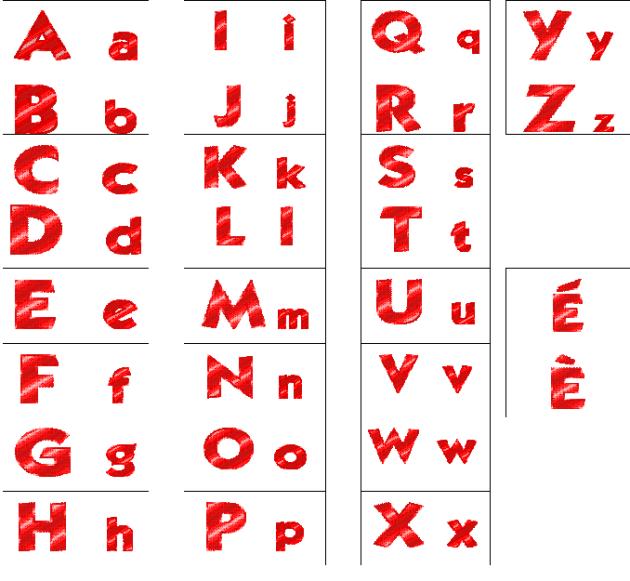 Initiation au fran ais l - L alphabet en francais a imprimer ...